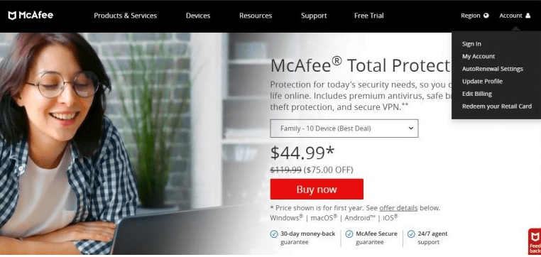 Activate McAfee