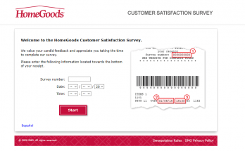 HomeGoods Customer Satisfactory Survey