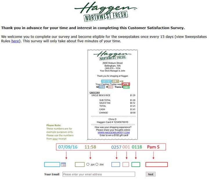 Haggen Customer Satisfaction Survey