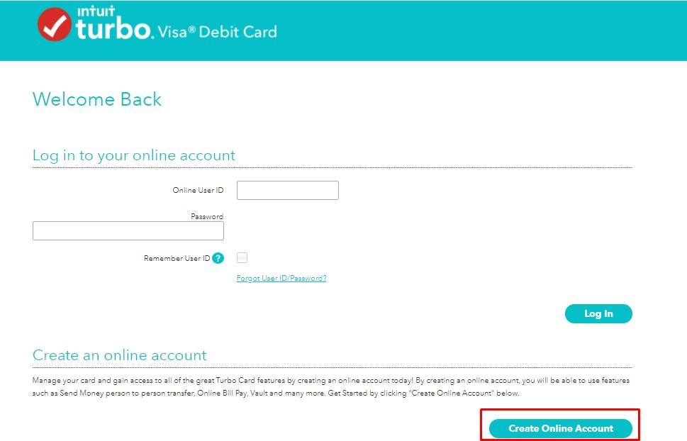 Turbo prepaid debit card sign up